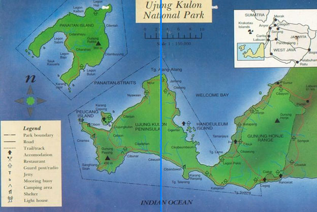 map ujung kulon national park